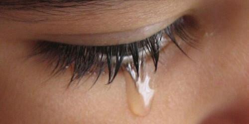 Olhos cheios de lágrimas